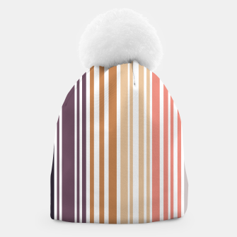 Thumbnail image of Earth colored pinstripes in soft murky colors Beanie, Live Heroes