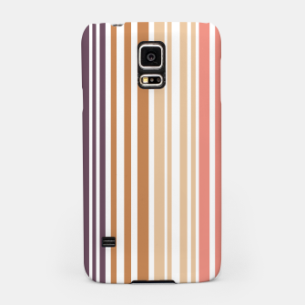 Thumbnail image of Earth colored pinstripes in soft murky colors Samsung Case, Live Heroes