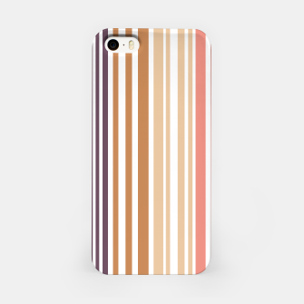 Thumbnail image of Earth colored pinstripes in soft murky colors iPhone Case, Live Heroes