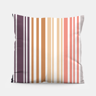 Thumbnail image of Earth colored pinstripes in soft murky colors Pillow, Live Heroes