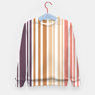 Miniature de image de Earth colored pinstripes in soft murky colors Kid's sweater, Live Heroes