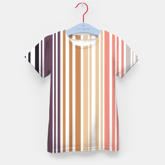 Thumbnail image of Earth colored pinstripes in soft murky colors Kid's t-shirt, Live Heroes