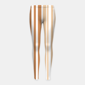 Thumbnail image of Earth colored pinstripes in soft murky colors Girl's leggings, Live Heroes