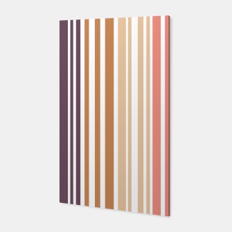 Thumbnail image of Earth colored pinstripes in soft murky colors Canvas, Live Heroes