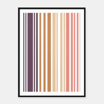 Miniature de image de Earth colored pinstripes in soft murky colors Framed poster, Live Heroes