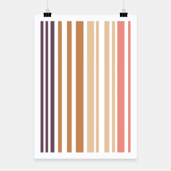 Miniature de image de Earth colored pinstripes in soft murky colors Poster, Live Heroes
