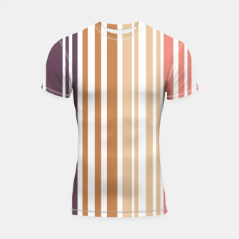 Thumbnail image of Earth colored pinstripes in soft murky colors Shortsleeve rashguard, Live Heroes