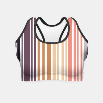 Thumbnail image of Earth colored pinstripes in soft murky colors Crop Top, Live Heroes