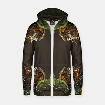 Thumbnail image of Orchid garden Zip up hoodie, Live Heroes