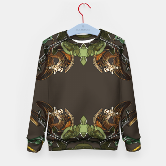 Thumbnail image of Orchid garden Kid's sweater, Live Heroes