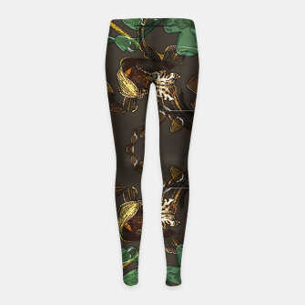 Thumbnail image of Orchid garden Girl's leggings, Live Heroes