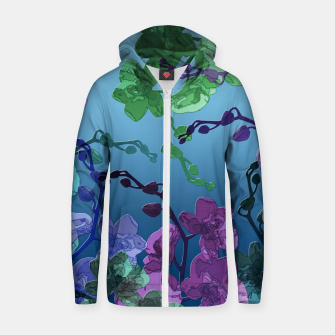 Thumbnail image of Orchid garden 2 Zip up hoodie, Live Heroes