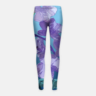 Thumbnail image of Orchid garden 2 Girl's leggings, Live Heroes
