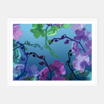 Thumbnail image of Orchid garden 2 Framed poster, Live Heroes