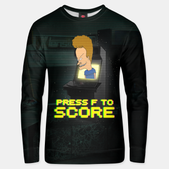 Thumbnail image of F to score Unisex sweater, Live Heroes
