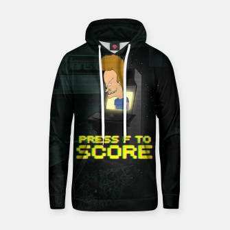 Thumbnail image of F to score Hoodie, Live Heroes