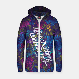 Thumbnail image of Love Zip up hoodie, Live Heroes