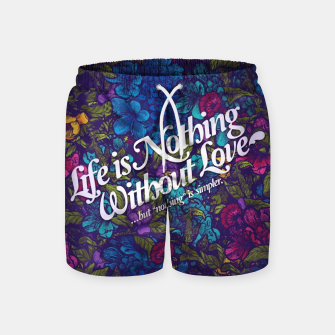 Miniatur Love Swim Shorts, Live Heroes