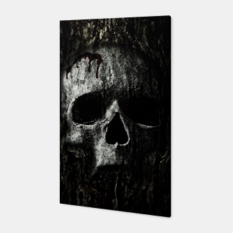 Thumbnail image of Wood Skull Canvas, Live Heroes