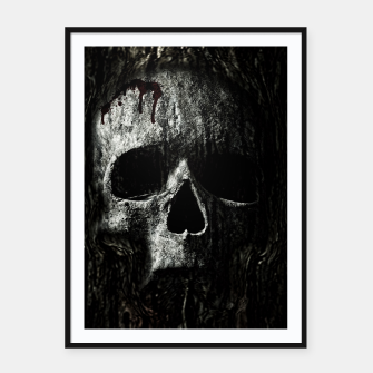 Thumbnail image of Wood Skull Cartel con marco, Live Heroes
