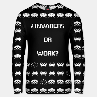 Thumbnail image of ¿Invaders or Work? Sudadera unisex, Live Heroes