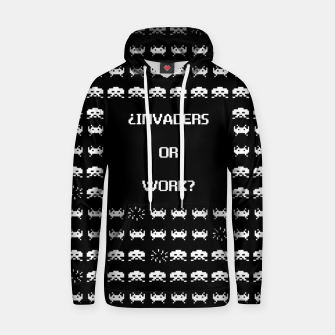Thumbnail image of ¿Invaders or Work? Sudadera con capucha, Live Heroes