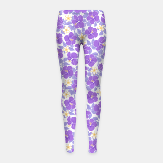 Thumbnail image of Hibiscus and Plumeria - Lilac Leggings para niña, Live Heroes
