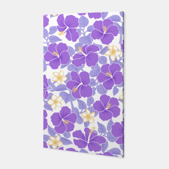 Thumbnail image of Hibiscus and Plumeria - Lilac Canvas, Live Heroes
