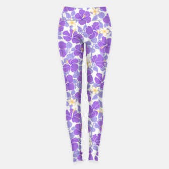 Thumbnail image of Hibiscus and Plumeria - Lilac Leggings, Live Heroes