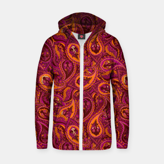 Miniature de image de Indian Paisley Zip up hoodie, Live Heroes