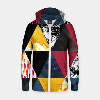 Thumbnail image of Triangles Sudadera con capucha y cremallera , Live Heroes