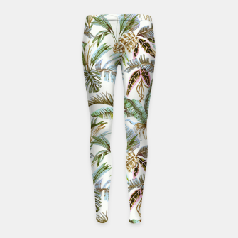 Miniature de image de Wild botany jungle Leggings para niña, Live Heroes