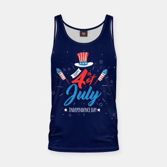 Thumbnail image of HAPPY INDEPENDENCE DAY Tank Top, Live Heroes