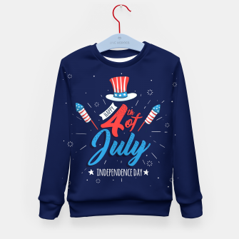 Thumbnail image of HAPPY INDEPENDENCE DAY Kid's sweater, Live Heroes