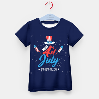 Thumbnail image of HAPPY INDEPENDENCE DAY Kid's t-shirt, Live Heroes