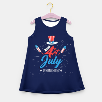 Thumbnail image of HAPPY INDEPENDENCE DAY Girl's summer dress, Live Heroes