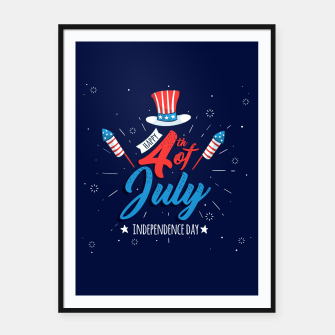 Thumbnail image of HAPPY INDEPENDENCE DAY Framed poster, Live Heroes
