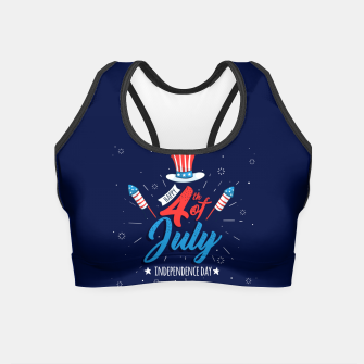 Thumbnail image of HAPPY INDEPENDENCE DAY Crop Top, Live Heroes