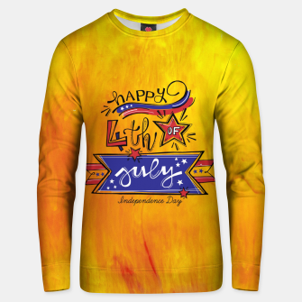 Thumbnail image of Proud to be American, HAPPY INDEPENDENCE DAY  Unisex sweater, Live Heroes