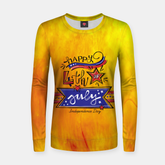 Thumbnail image of Proud to be American, HAPPY INDEPENDENCE DAY  Women sweater, Live Heroes