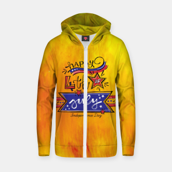 Thumbnail image of Proud to be American, HAPPY INDEPENDENCE DAY  Zip up hoodie, Live Heroes
