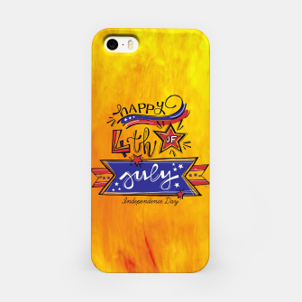 Thumbnail image of Proud to be American, HAPPY INDEPENDENCE DAY  iPhone Case, Live Heroes