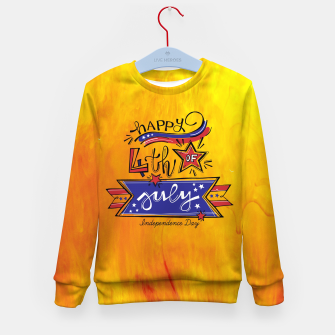 Thumbnail image of Proud to be American, HAPPY INDEPENDENCE DAY  Kid's sweater, Live Heroes