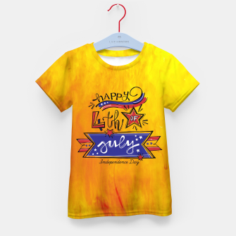 Thumbnail image of Proud to be American, HAPPY INDEPENDENCE DAY  Kid's t-shirt, Live Heroes