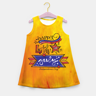 Thumbnail image of Proud to be American, HAPPY INDEPENDENCE DAY  Girl's summer dress, Live Heroes