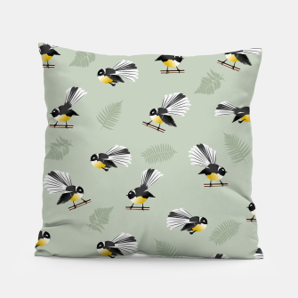 Thumbnail image of Fantail Bird Pattern Pillow, Live Heroes