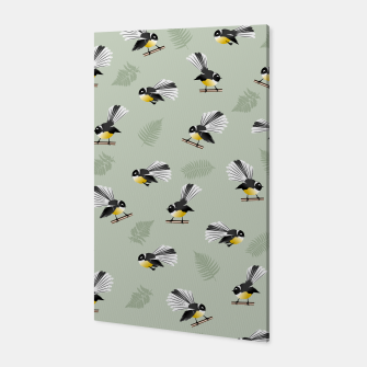 Thumbnail image of Fantail Bird Pattern Canvas, Live Heroes