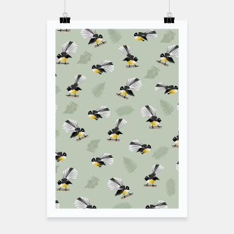 Thumbnail image of Fantail Bird Pattern Poster, Live Heroes