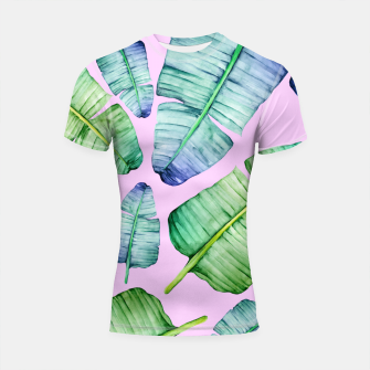 Thumbnail image of Fancy Tropical Pattern Shortsleeve rashguard, Live Heroes
