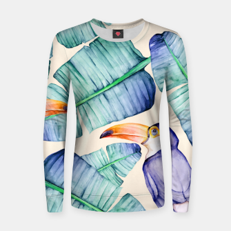 Thumbnail image of Fancy Tropical Pattern Frauen sweatshirt, Live Heroes